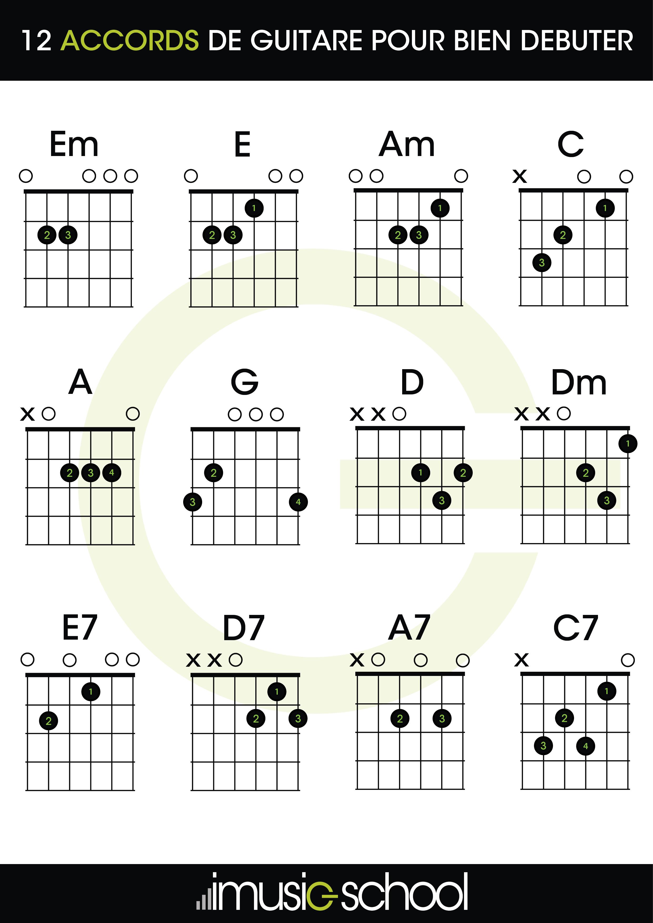 Guitarra Para Principiantes 12 Acordes Para Empezar