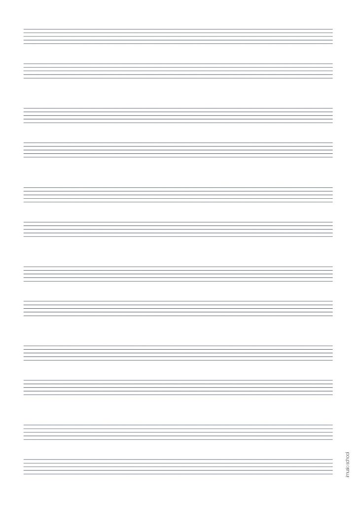 picture regarding Printable Tablature Paper titled Songs Sheet Free of charge Blank Songs Paper, Tablatures, Blank