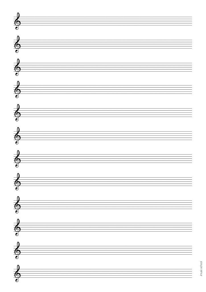 graphic regarding Printable Tablature Paper named New music Sheet Cost-free Blank Audio Paper, Tablatures, Blank