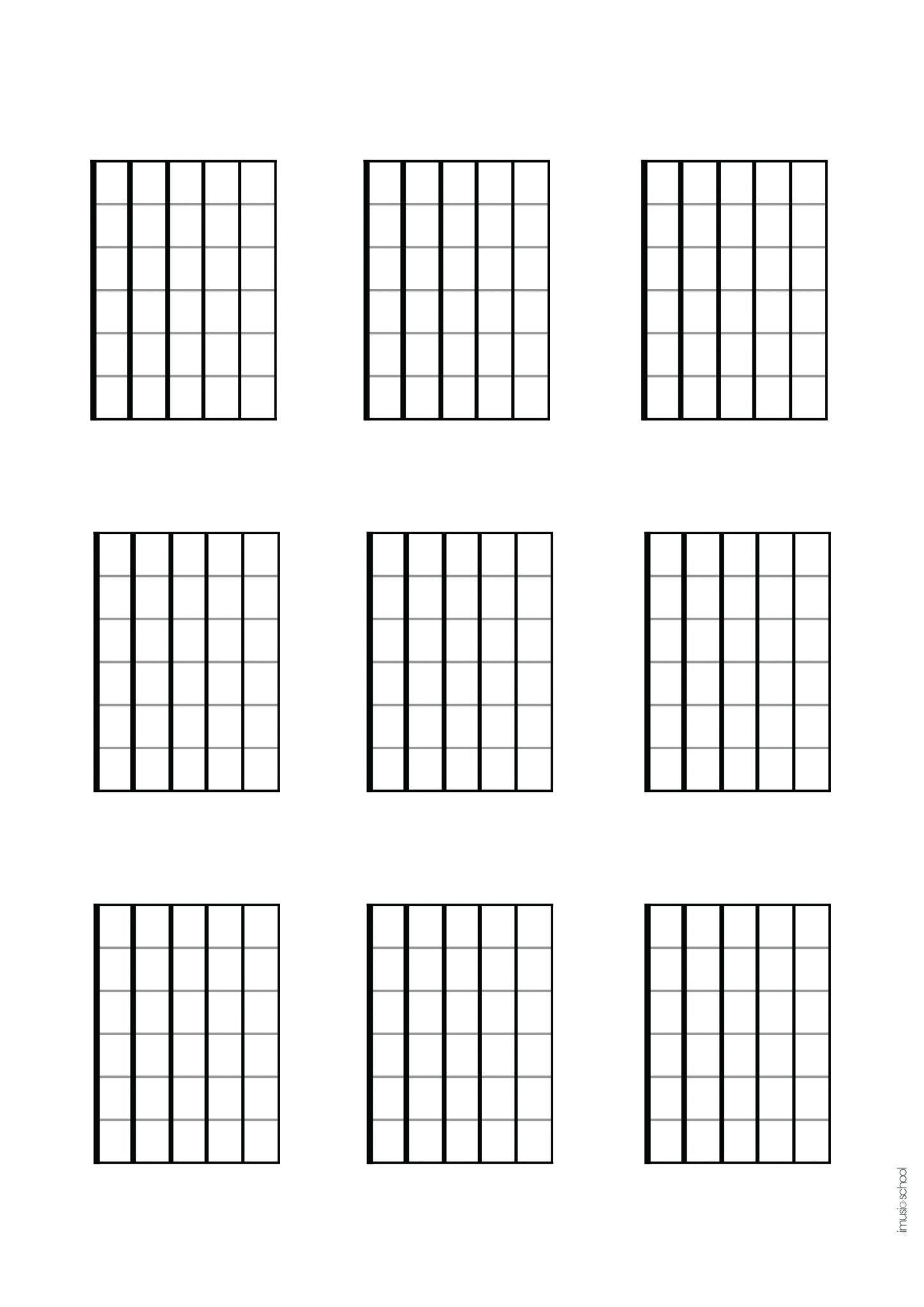Portée vierge partition pour guitare et piano gratuite téléchargeable