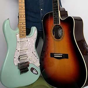 Cours de guitare débutant - guitare électrique et guitare acoustique